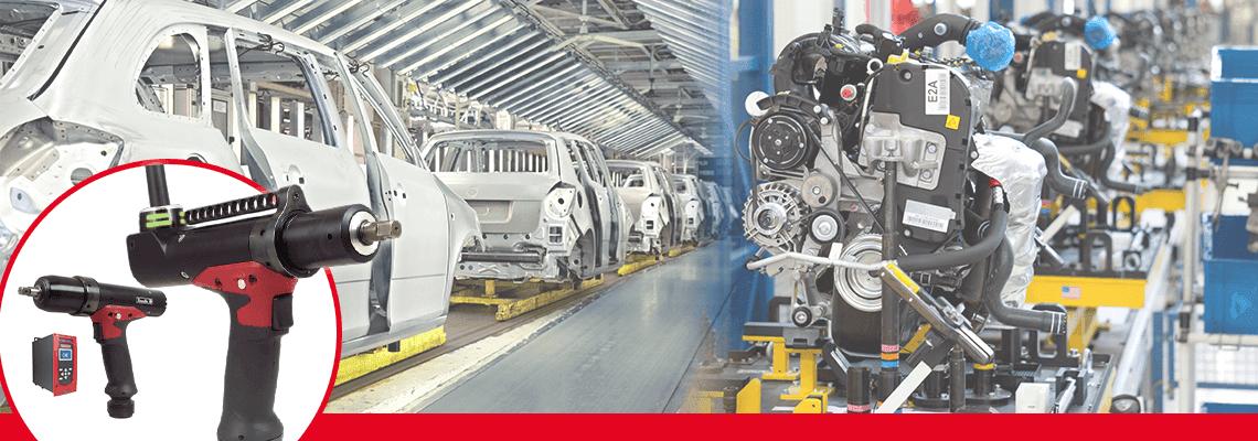¡Fábricas de coche aceleran en la transformación de las herramientas neumáticas a herramientas electrónicas de impulso sin reacción!