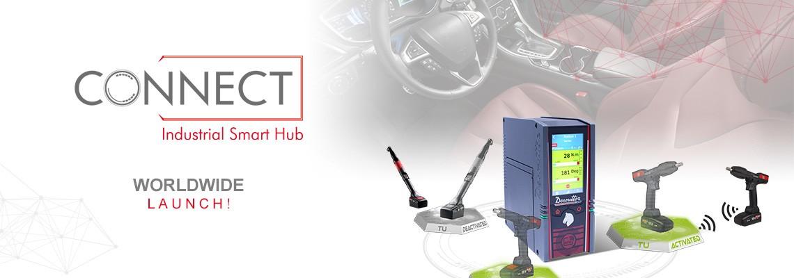 Estamos orgullosos de presentar nuestro nuevo Smart Hub Industrial nombrado CONNECT: ¡una solución Desoutter 4.0!